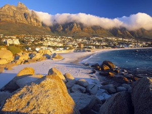 Playa en Ciudad del Cabo (África)