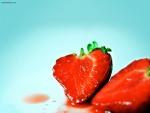 Una jugosa fresa