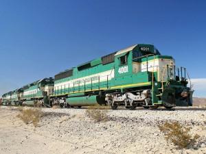 Postal: Locomotora verde