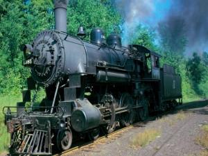 Postal: Antigua locomotora a vapor