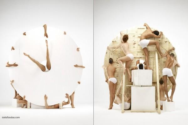 Reloj humano