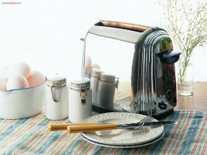 Preparando el desayuno