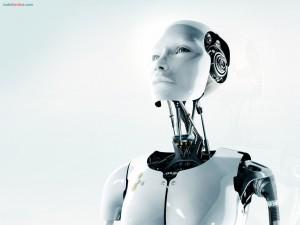 Un robot pensativo