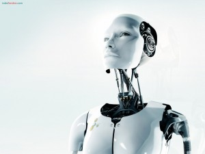 Postal: Un robot pensativo