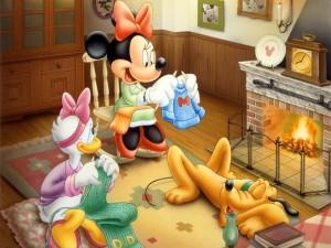 Daisy, Minnie y Pluto
