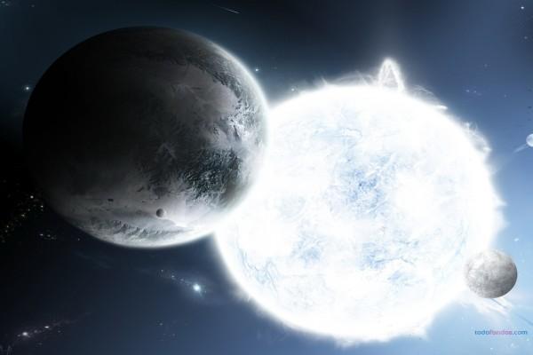 Planetas atraídos por una estrella blanca