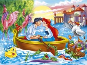La princesa Ariel (la Sirenita) y el príncipe Eric