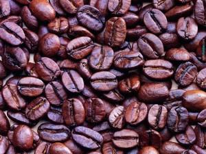 Postal: Semillas de café tostado