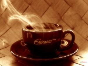 Espresso humeante