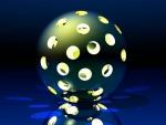 Esfera iluminada con agujeros