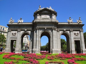 Postal: La Puerta de Alcalá (Madrid, España)
