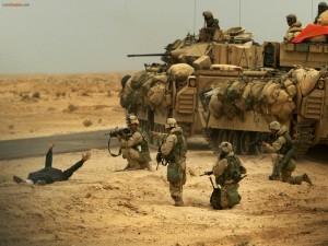 Postal: Marines norteamericanos en una misión real