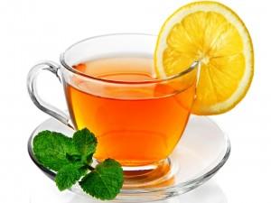 Postal: Té verde con limón y menta