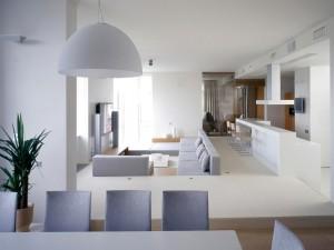Postal: Apartamento minimalista blanco
