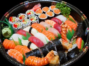 Postal: Plato de sushi