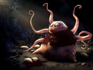 Postal: Monstruo cefalópodo