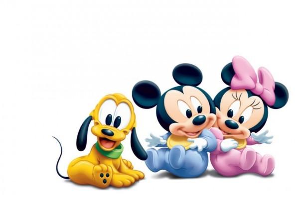 Pluto, Mickey y Minnie muy jovencitos
