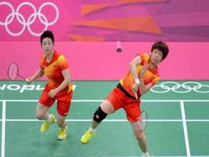 Equipo chino de bádminton femenino (Yu Yang y Wang Xiaoli)