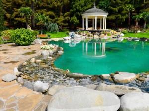 Postal: Hermoso jardín asiático