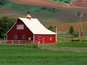 Granja en Palouse, en el este de Washington