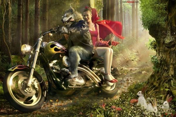 """Versión moderna de """"Caperucita Roja y el Lobo"""""""