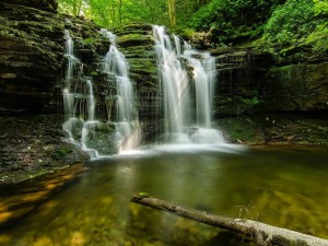 Postal: Pequeños saltos de agua múltiples