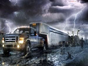 Postal: El Arca de Noé en un camión