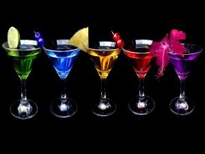 Cócteles de colores