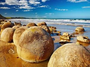 Cantos rodados de Moeraki (Nueva Zelanda)