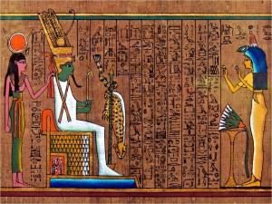 Postal: Jeroglífico del Antiguo Egipto