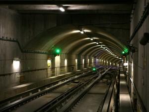 Postal: Túnel del metro