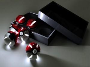 Esferas de luz en 3D
