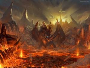 Dragón en los infiernos