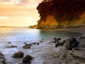 Una playa tranquila
