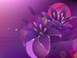 Flores brillantes color púrpura