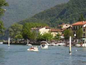 Postal: Estrecho de Lavena (Lago de Lugano, Suiza)