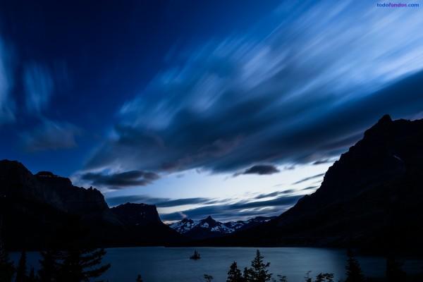 Lago Saint Mary, en el Parque Nacional de los Glaciares (Montana)