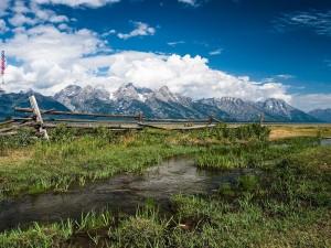 Postal: Cordillera Teton, en las Montañas Rocosas (Wyoming)