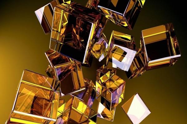 Cubos de cristal en 3D