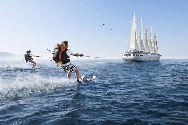 De vacaciones en esquí acuático