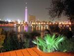 Torre del Cairo (Egipto) de noche