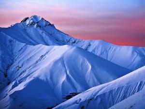 Postal: Montañas azules