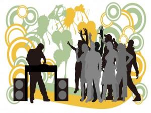 Postal: DJ y su público