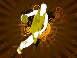 Silueta de un jugador de baloncesto