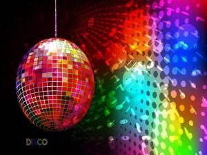 Postal: Bola de discoteca