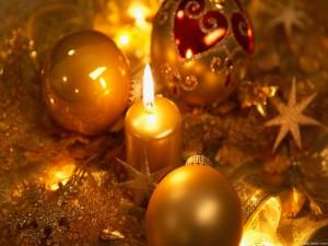 Postal: Navidad dorada