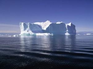 Postal: Iceberg en el Polo Norte