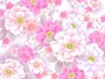 Lluvia de flores rosas