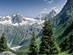 Postal: Paisaje de alta montaña en los Alpes