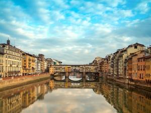 Postal: Ponte Vecchio (Florencia, Italia)